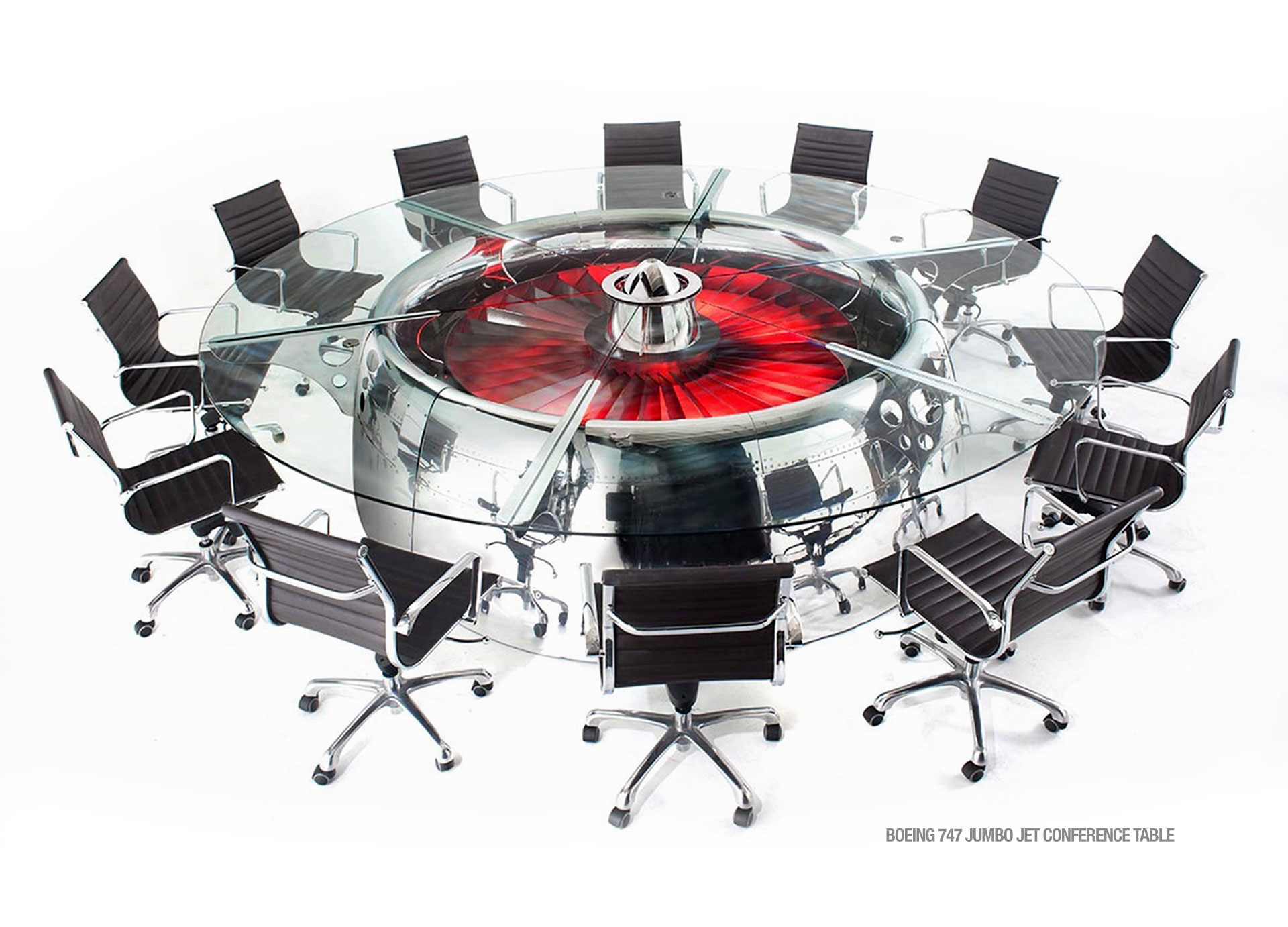 MotoArt Own A Piece Of Aviation History - Round conference table for 12
