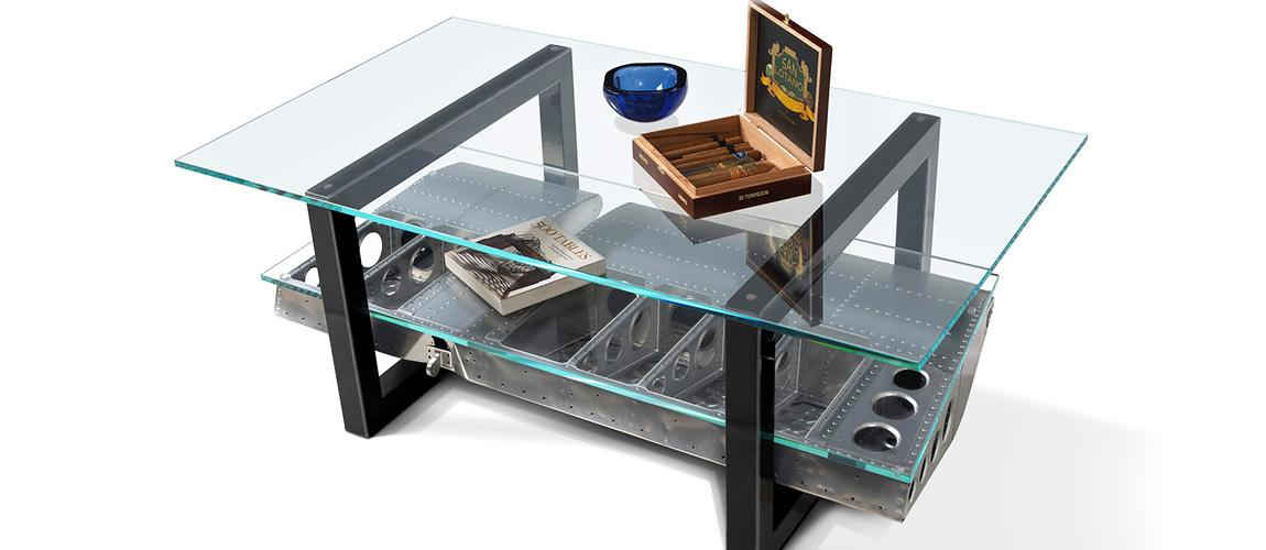 Aileron Coffee Table - MotoArt Own A Piece Of Aviation History