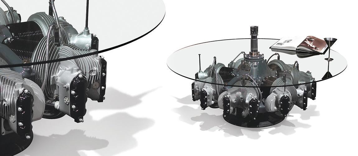 Continental Radial Engine Coffee Table Motoart