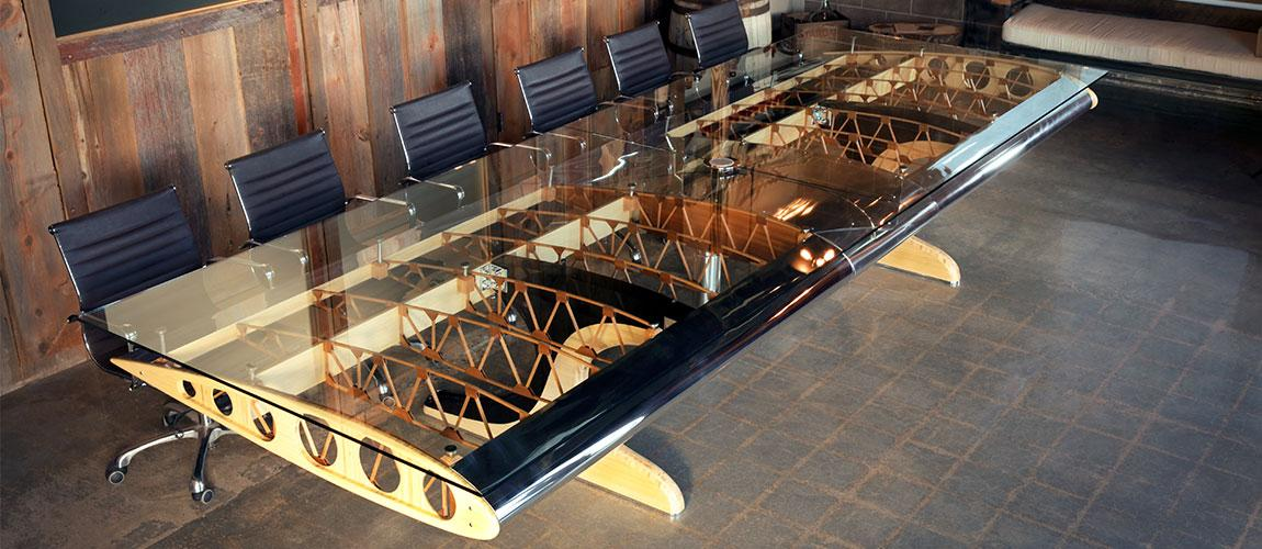 Bamboo Biplane Conference Table Motoart