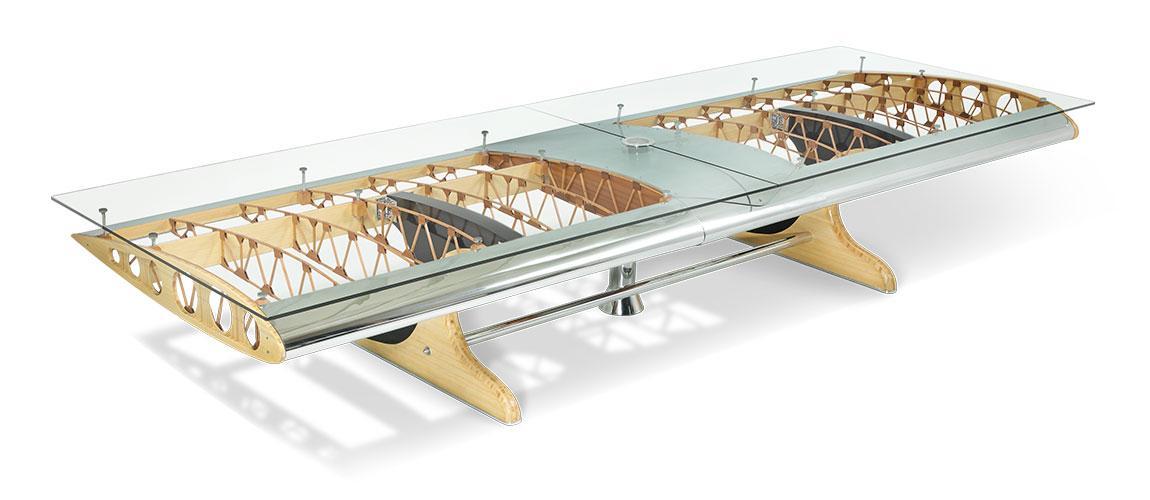 Bamboo Biplane Conference Table Motoart
