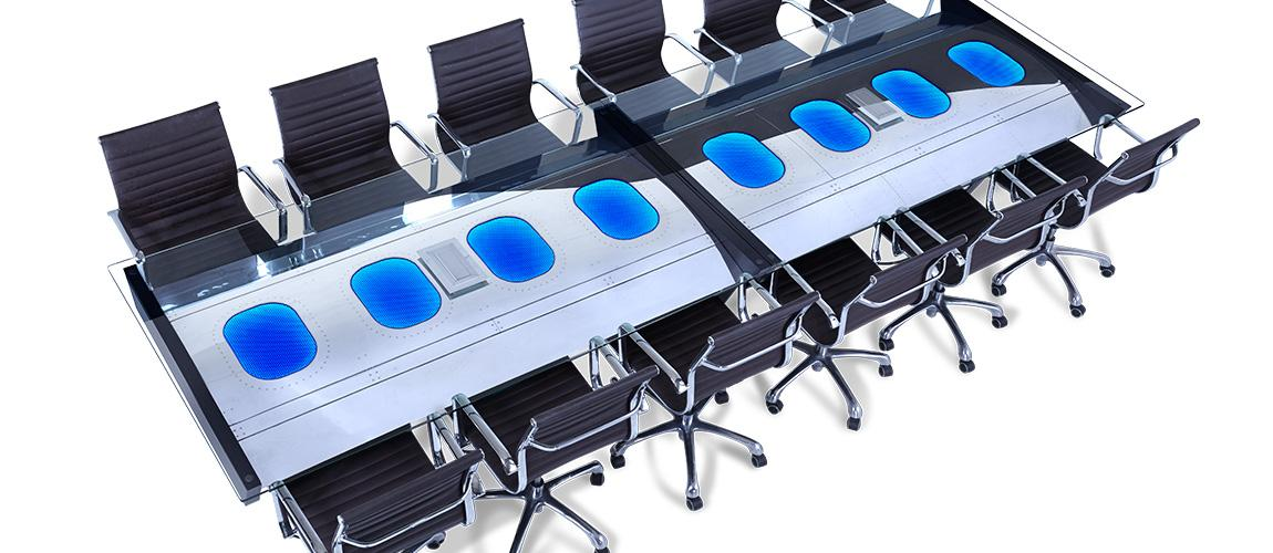 Fuselage Conference Table MotoArt - Blue conference table